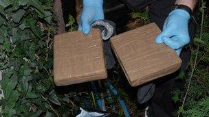 Cocaine seized by police investigating the gang