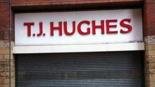 The TJ Hughes sign