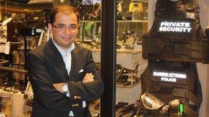 Gun shop owner George Stamatopoulos