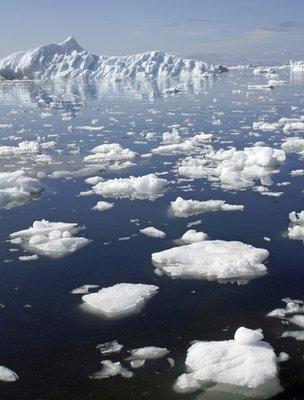 Arctic sea ice (Image: BBC)