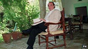 Asil Nadir in 1993 after his return to Cyprus