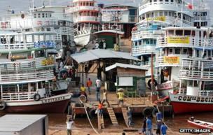 River ferries at Manaus