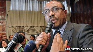Hailemariam Desalegn is to succeed the late Prime Minister Meles Zenawi (File)