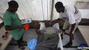 Cholera patient in Sierra Leone