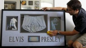 Elvis Presley underpants could fetch £10,000 at auction - BBC News