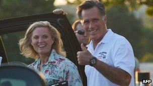 Mitt Romney (right) and his wife Ann. Photo: 26 August 2012