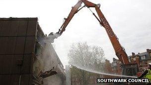 Demolition of Heygate Estate