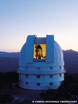 Otto Struve telescope at McDonald Observatory