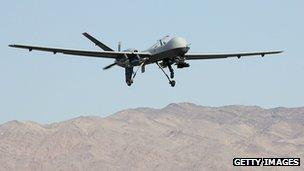 Reaper drone aircraft
