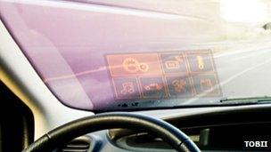 Eye-controlled car display