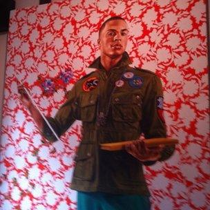 Painting by Kehinde Wiley