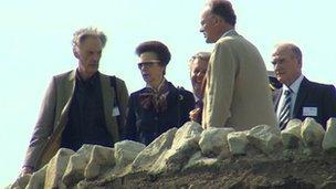Princess Royal opens Northumberlandia