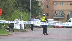 The area around the shooting was cordoned off
