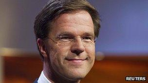 Mark Rutte of the People's Party for Freedom and Democracy