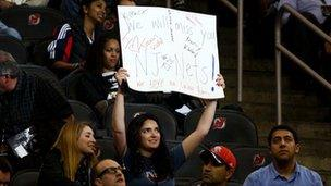 Nets fans at their last game in New Jersey