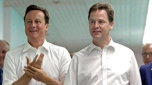 David Cameron a Nick Clegg