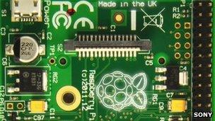 Raspberry Pi board Revision 2 with UK stamp