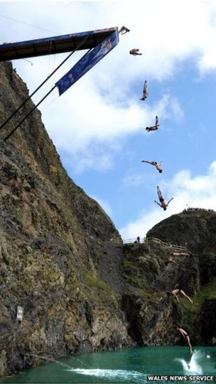 Bungee jumping south wales