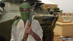 Islamist fighter in Gao, Mali (7 August 2012)