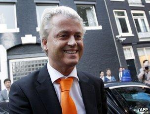 Geert Wilders in Amsterdam, 4 September