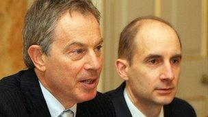Tony Blair and Andrew Adonis, 2007
