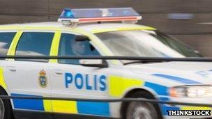 Police car in Sweden