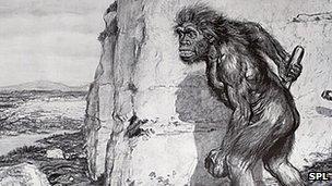 Representation of Neanderthal man, 1909