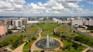 A view of Brasília's Monumental Axis