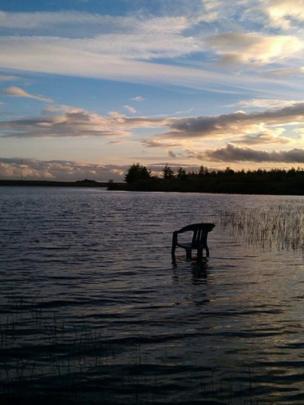 Chair in Black Loch, Falkirk