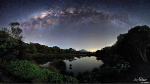 The Milky Way View from the Piton de l'Eau, Réunion Island