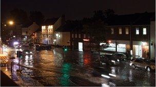 Flooded high street at Yarm, Stockton-on-Tees (Pic: Michael Buczek)