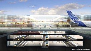 Estuary Airport designs c/o Foster Partners