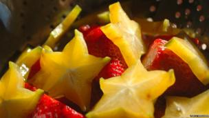 strawberries and starfruit.""
