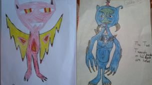 Two alien pictures