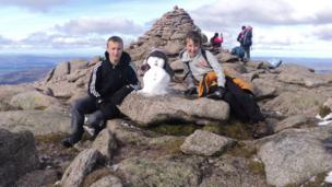 Alex and Cameron on the summit of Cairngorm