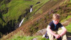 Ruari at Grey Mare's Tail