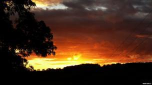 Sunrise over Ballycastle forest