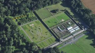 Cammy Reith from Hawick was in a helicopter when he photographed the Duke's Garden at Floors Castle in Kelso.