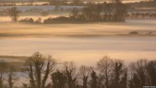 Lough Erne shrouded in mist