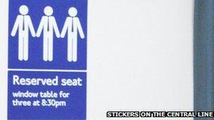 Stickers on the Central Line