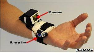 Hand sensor