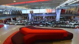 BBC Broadcasting House newsroom
