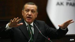 Turkish Prime Minister Recep Tayyip Erdogan, Ankara 9 Oct