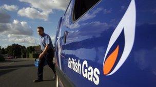 British Gas vehicle and employee