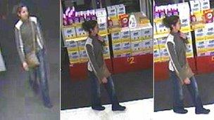 CCTV images of Catherine Gowing seen at an Asda supermarket in Queensferry