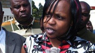 Anne Njeri Otieno outside Eldoret court on 23 October 2012