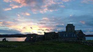 Sunrise over Iona