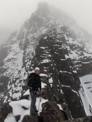 Shauna on Tower Ridge, Ben Nevis
