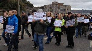 March in Plymouth
