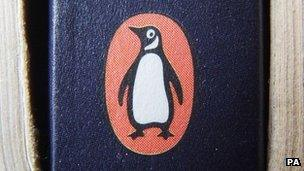 Penguin logo on a book